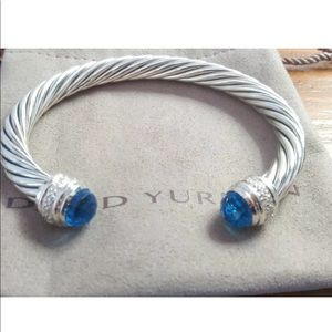 David Yurman Blue Topaz Diamond 7mm